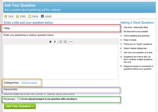 Ask Question Form