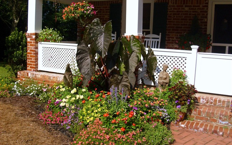 Front flower bed ideas photograph front porch flower bed i for Front porch flower bed ideas