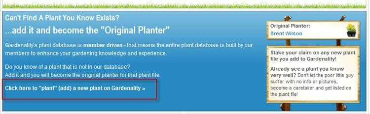 Add A Plant Link