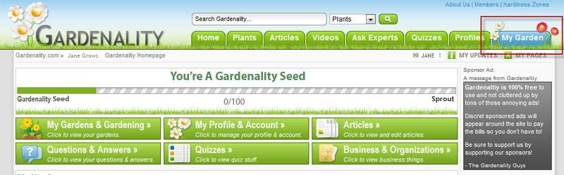 My Garden Homepage