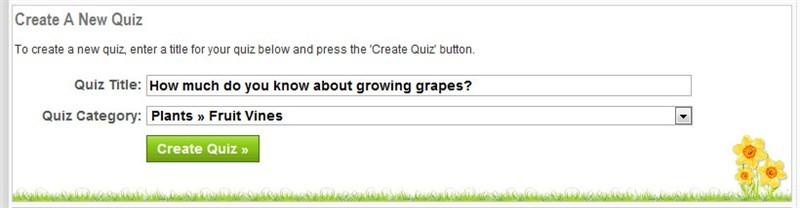 Quiz Title Form