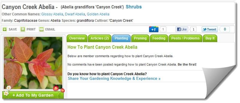 Plant File Planting Tab